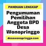 Pengumuman Pemilihan Anggota Badan Permusyawaratan Desa (BPD) Desa Wonopringgo Tahun 2019