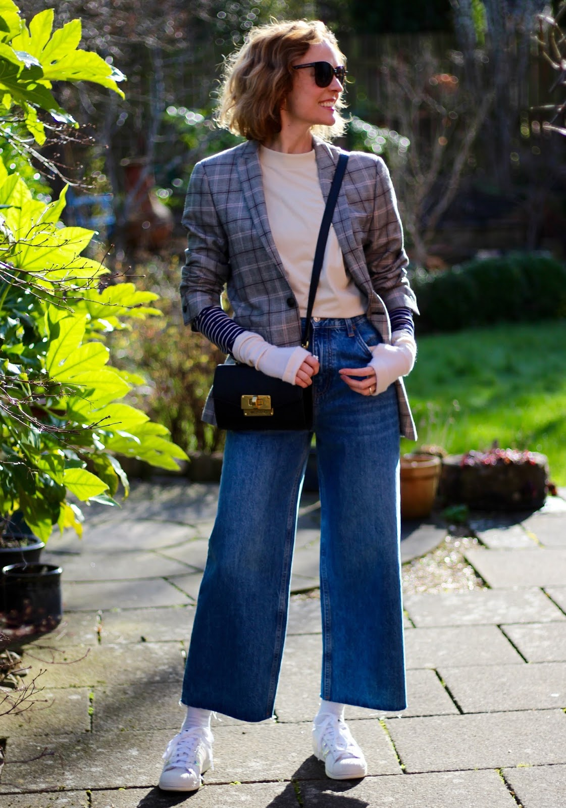 Steal Her Style | Spring blazer and wide jeans outfit | Fake Fabulous
