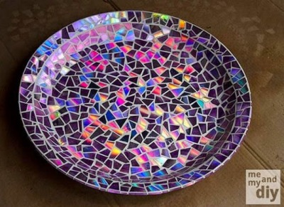 Piring mozaik CD/DVD