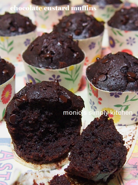 chocolate custard muffin hesti