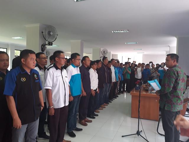 Mappilu PWI Kabupaten/kota se-Provinsi Lampung Resmi Dilantik