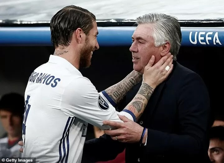 Ramos 'called Ancelotti for help in convincing Perez to hand him a new deal'