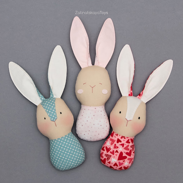 DIY bunny stuffed animals for baby gifts