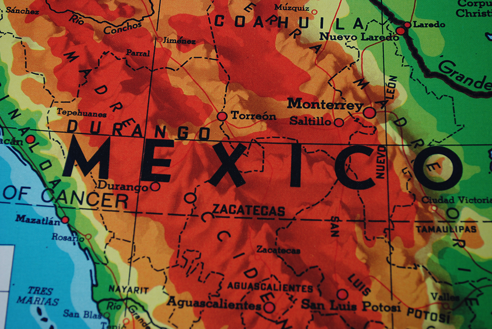 My Favorite Section Of The Map Is This Mountainous Part Of Mexico As It Meets With The Large Font The Orange Of The Map Is Striking Orange Is My Favorite