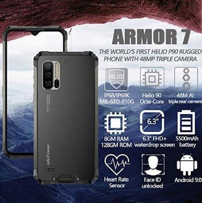 التفاصيل, الكاملة, عن, الهاتف, الذكى, يوليفون, Ulefone ,Armor 7, جميع, المواصفات, والمميزات, والعيوب