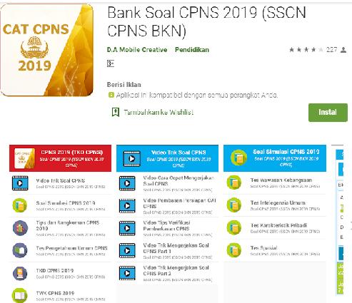 bank soal cpns 2019
