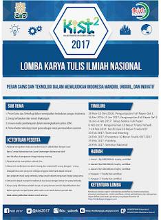KIST 2017 Lomba Karya Tulis Ilmiah Nasional Berhadiah Uang Tunai (DL Januari 2017)