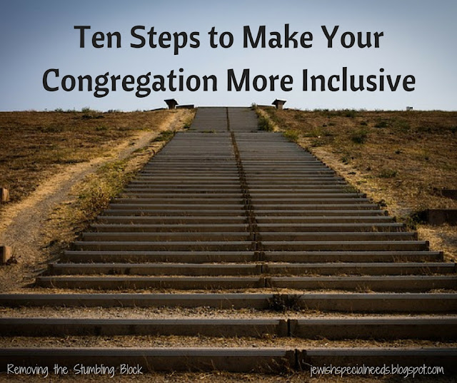Ten Steps to Make Your Congregation More Inclusive; Removing the Stumbling Block