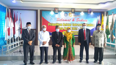 Dilantik Di Aula FKIP UNA, Prof Tri Harsono Rektor Universitas Asahan Defenitif Hingga 2025