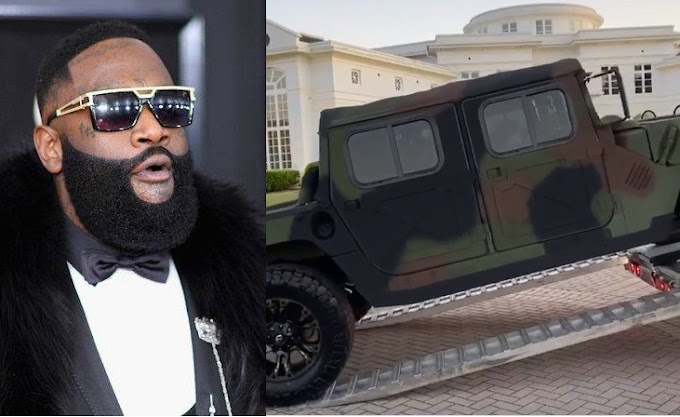 Rapper, Rick Ross buys himself a customized Military Maybach Humvee (Video)