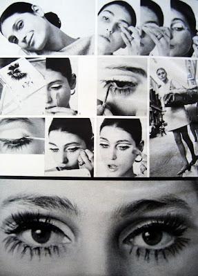 Benedetta Barzini make-up, Glamour Magazine, February 1968.