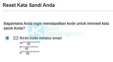 Klik tombol Cari agar Facebook dapat segera menemukan akun Anda beserta alamat email.
