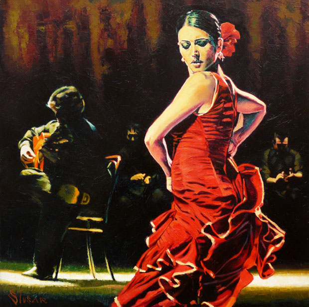 Alexey Slusar 1961 - Ukrainian painter | Flamenco dancers