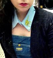 collar, camisa, miu miu, cuello, apliques, dibujos, manualidades