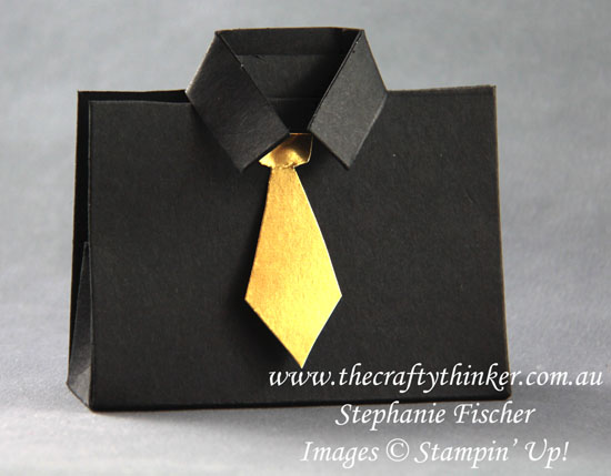 #thecraftythinker, #tablefavours, #cardmaking, #stampinup, #christmas, Christmas Table Favours, Shirt & Tie table favour, Stampin' Up Australia Demonstrator, Stephanie Fischer, Sydney NSW