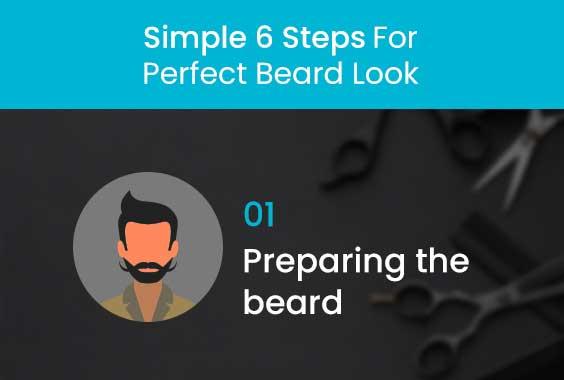 Preparing the beard