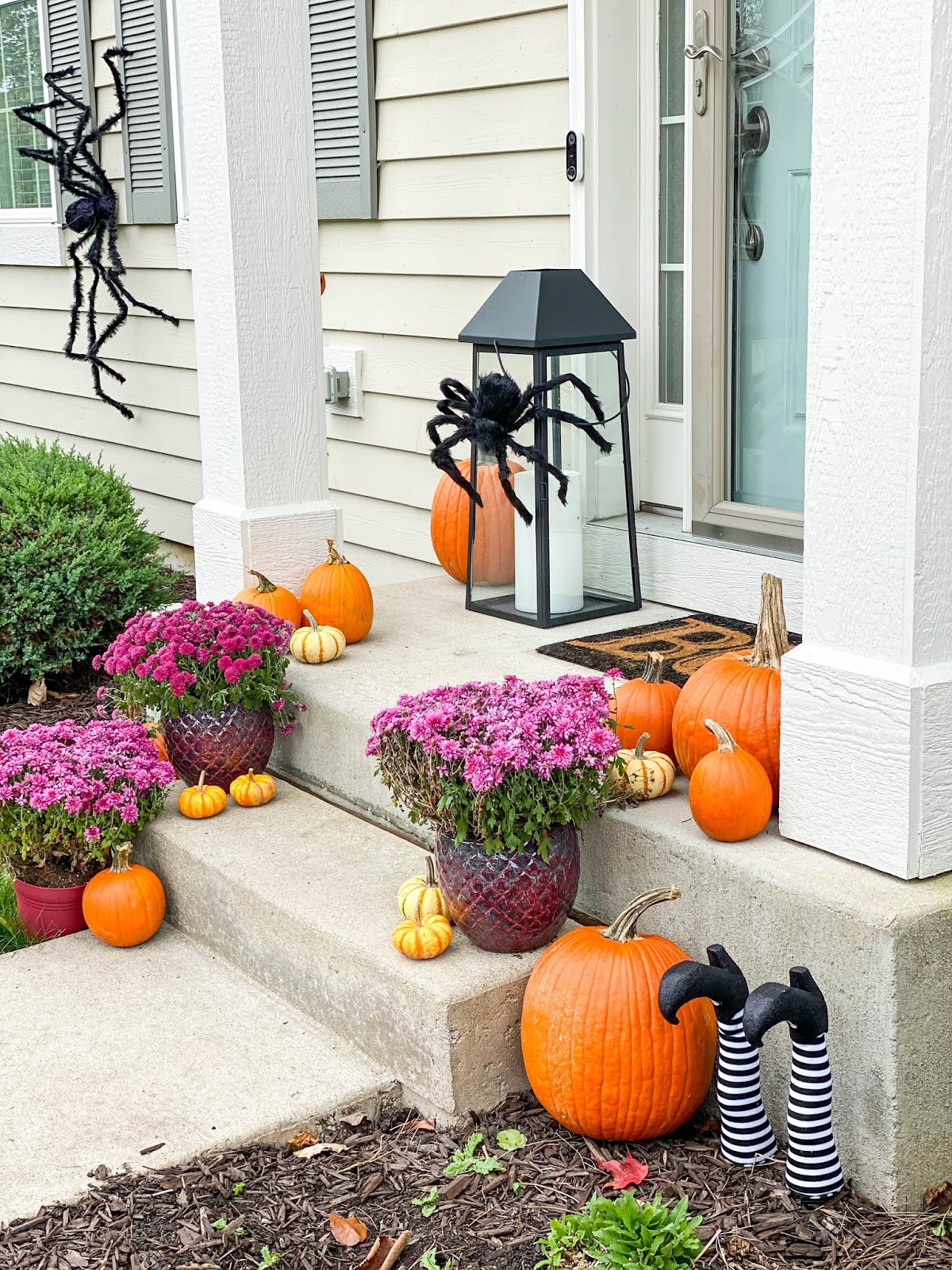 halloween spider porch decorations
