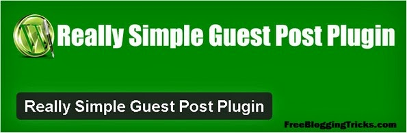 Really Simple Guest Post Plugin for WordPress