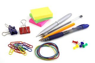 Sticky notes and office supplies