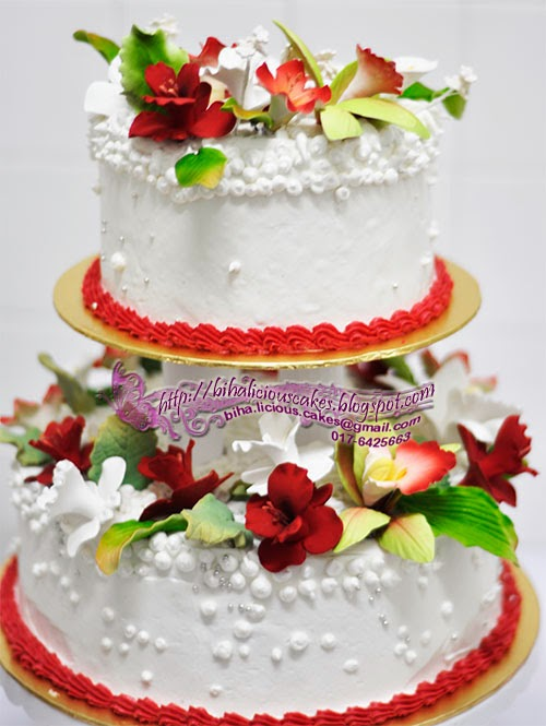red and white 2 tier wedding cakes bihaliciouscakes 2 tier wedding cake white 19089