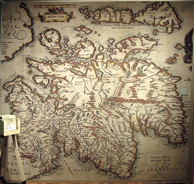 stara mapa szkocji
