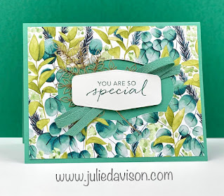 Stampin' Up! Tasteful Touches Forever Greenery Card ~ www.juliedavison.com #stampinup ~ Stampin' Up! 2020-2021 Annual Catalog