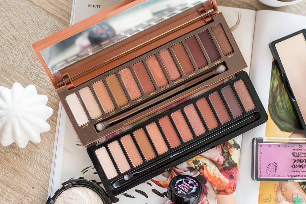Urban Decay Naked Heat vs essence WANTED sunset dreamers eyeshadow palette