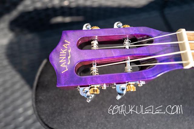 Lanikai Quilted Maple Concert Ukulele headstock