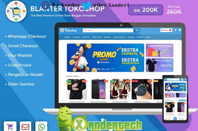 Download Blanter Tokoshop Blogger Template for Shopping Premium(2021)