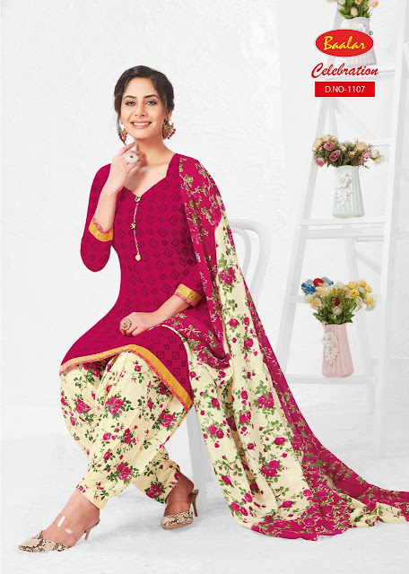 CELEBRATION VOL 11 PURE COTTON READYMADE PATIYALA SET RS-475 , DESIGNS- 18 PC , SET RATE-RS 8460
