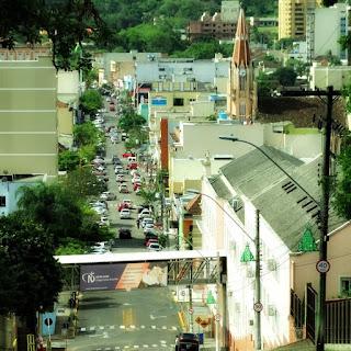 Centro de Taquara visto do Morro do Leôncio