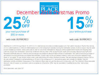 Childrens Place coupons december