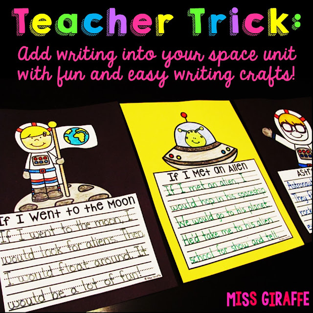 Space writing prompts first grade kids love!