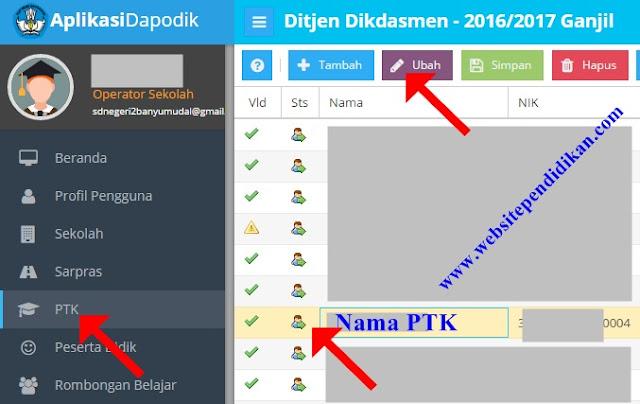 Semua PTK Wajib Mengetahui tentang Cara Mengisi Data Utama PTK di Dapodik