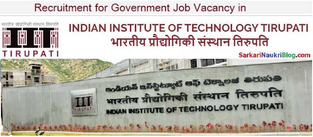 Government Jobs Vacancy Recruitment IIT Tirupati