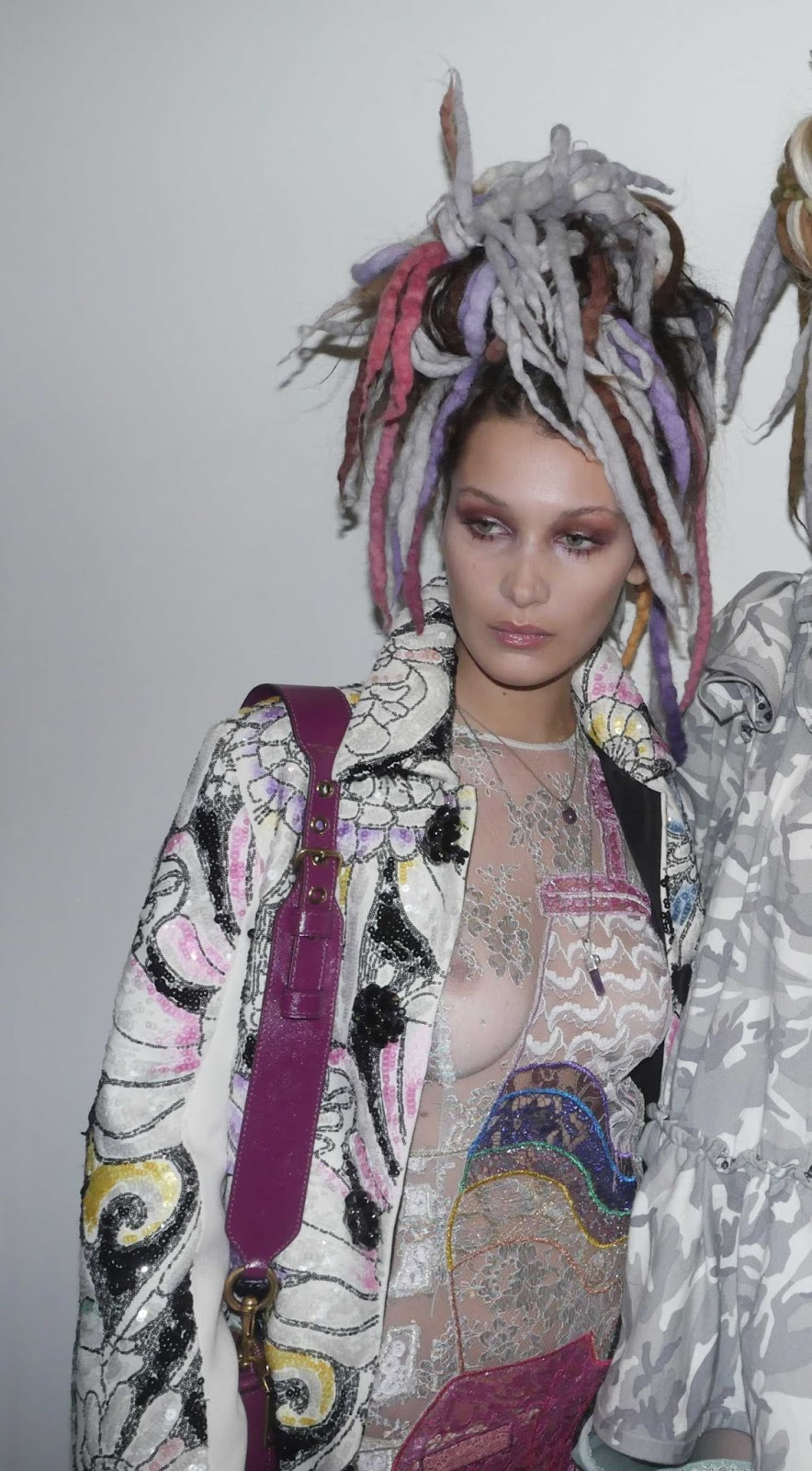 Bella Hadid goes sheer for the Marc Jacobs New York Fashion Week Runway