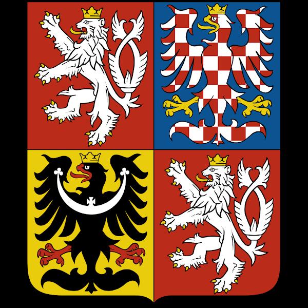 Logo Gambar Lambang Simbol Negara Ceko PNG JPG ukuran 600 px