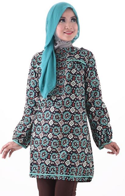 Baju Muslim Batik Kantor