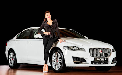 Jaguar XF With Jacqueline Fernandez HD image