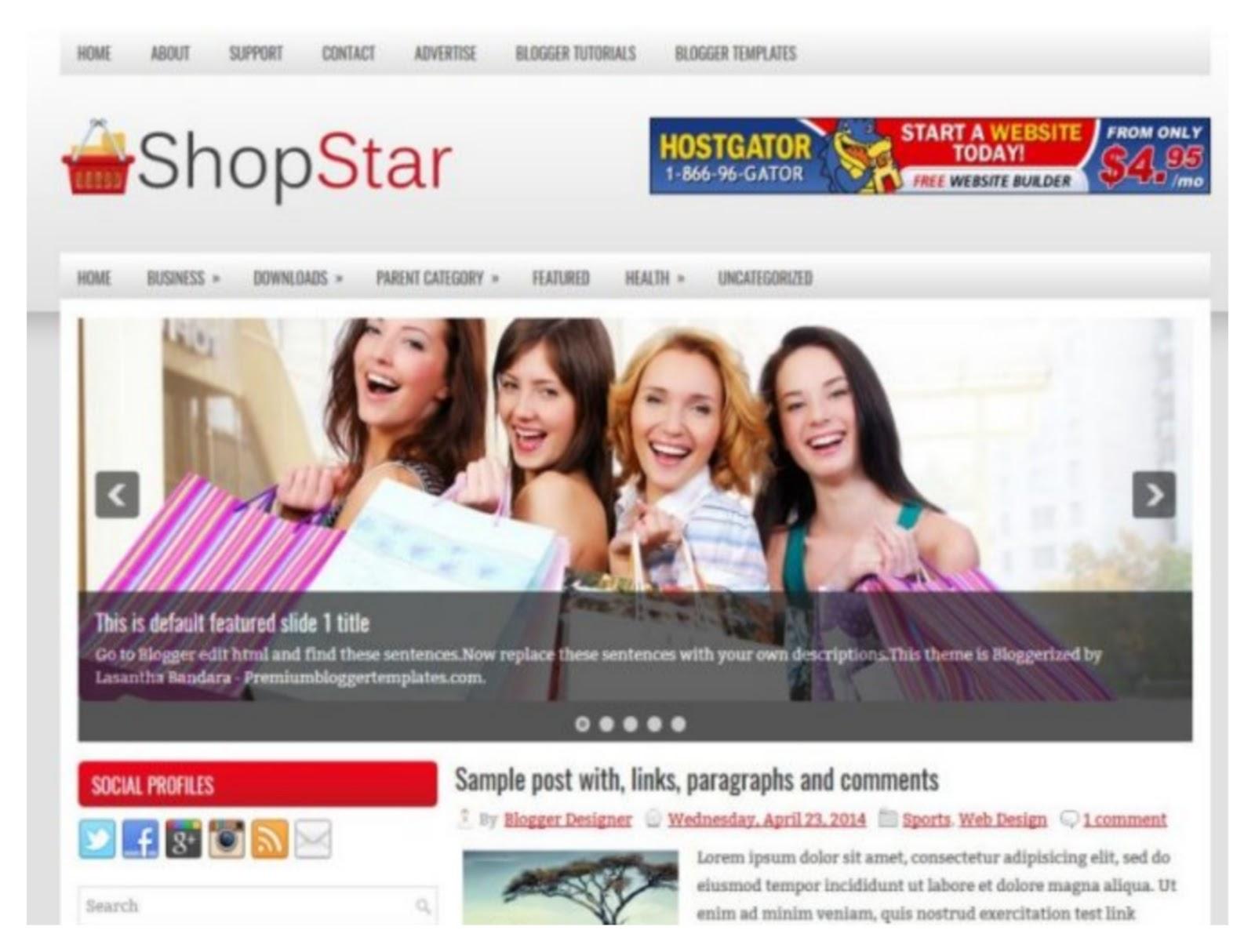Shopstar Responsive Blogger Template