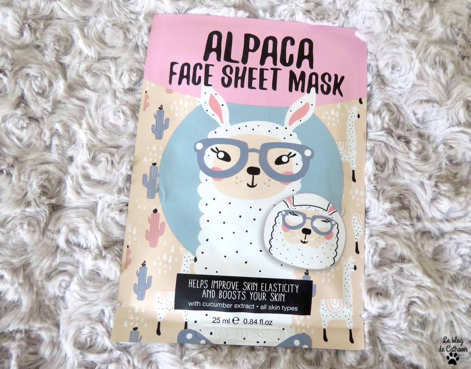 Alpaga Face Sheet Mask - Masque Tissu - Action