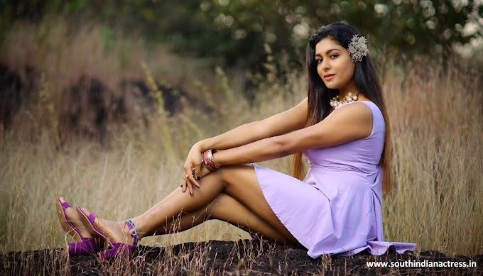 Actress Akshatha Srinivas hot pics in Purple dress