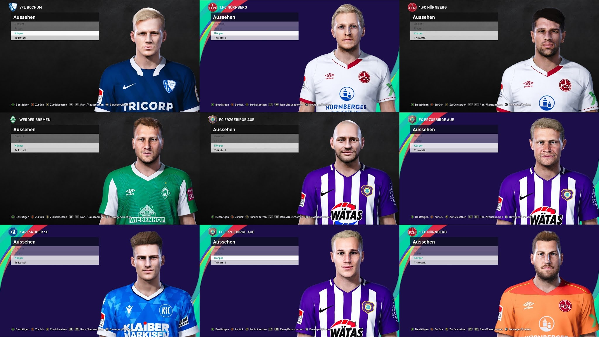 Pes 2021 2 Bundesliga Facepack By Heywips Pesnewupdate Com Free Download Latest Pro Evolution Soccer Patch Updates