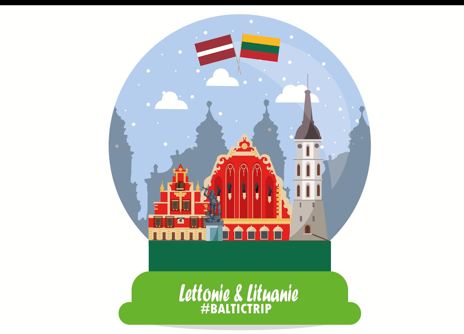 Let's go to... LETTONIE & LITUANIE !