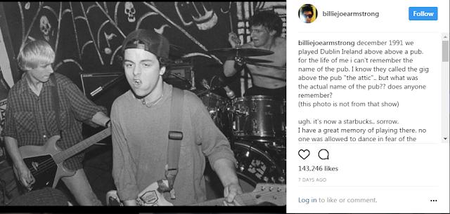 Kenangan Billie Joe Amstrong(Vokalis Green Day) Dengan Starbucks