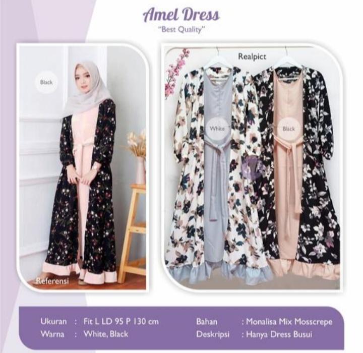 Jual Baju Busana Muslim Amel Dress