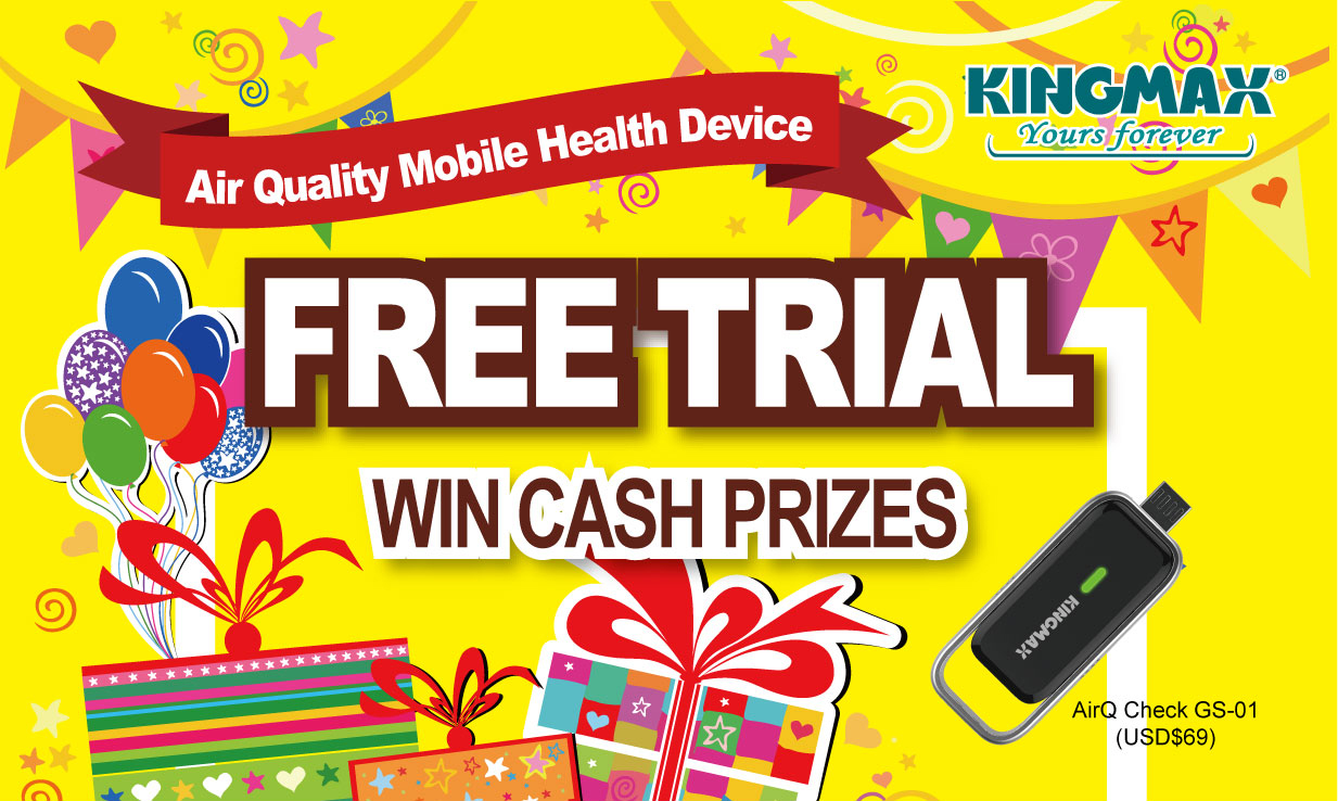 KINGMAX AirQ Check Air Quality Mobile Health Device Free Trial Review Event