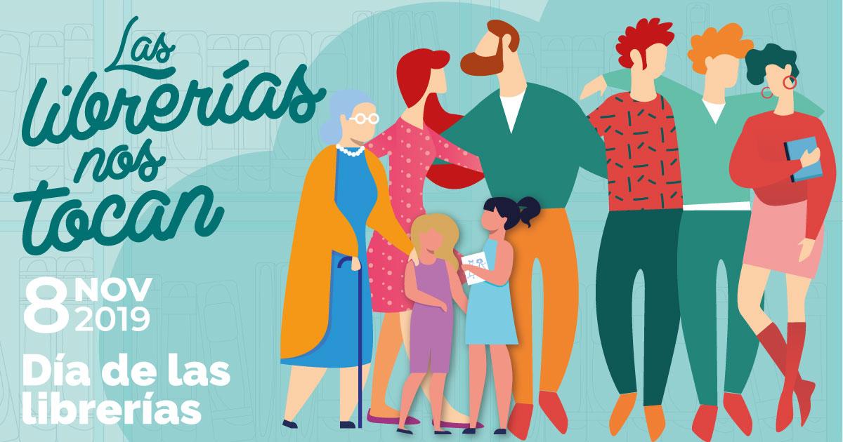 Cartel en español del Día de las Librerías