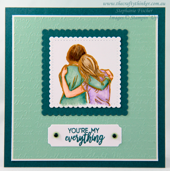 #thecraftythinker #stampinup #cardmaking #anniversarycard #artfullyaware , Anniversary Card, Artfully Aware, Merry Christmas Dies, Scripty Embossing Folder, Stampin' Up Demonstrator, Stephanie Fischer, Sydney NSW