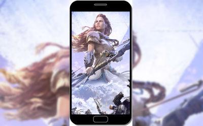 Horizon Zero Down Aloy Montagnes - Fond d'Écran en QHD pour Mobile